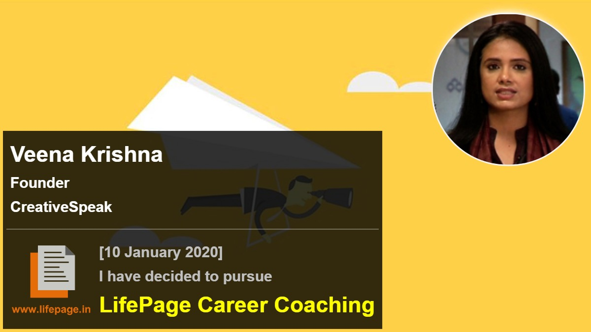 Veena Krishna | Working Professional Testimonial | LifePage Career Plan