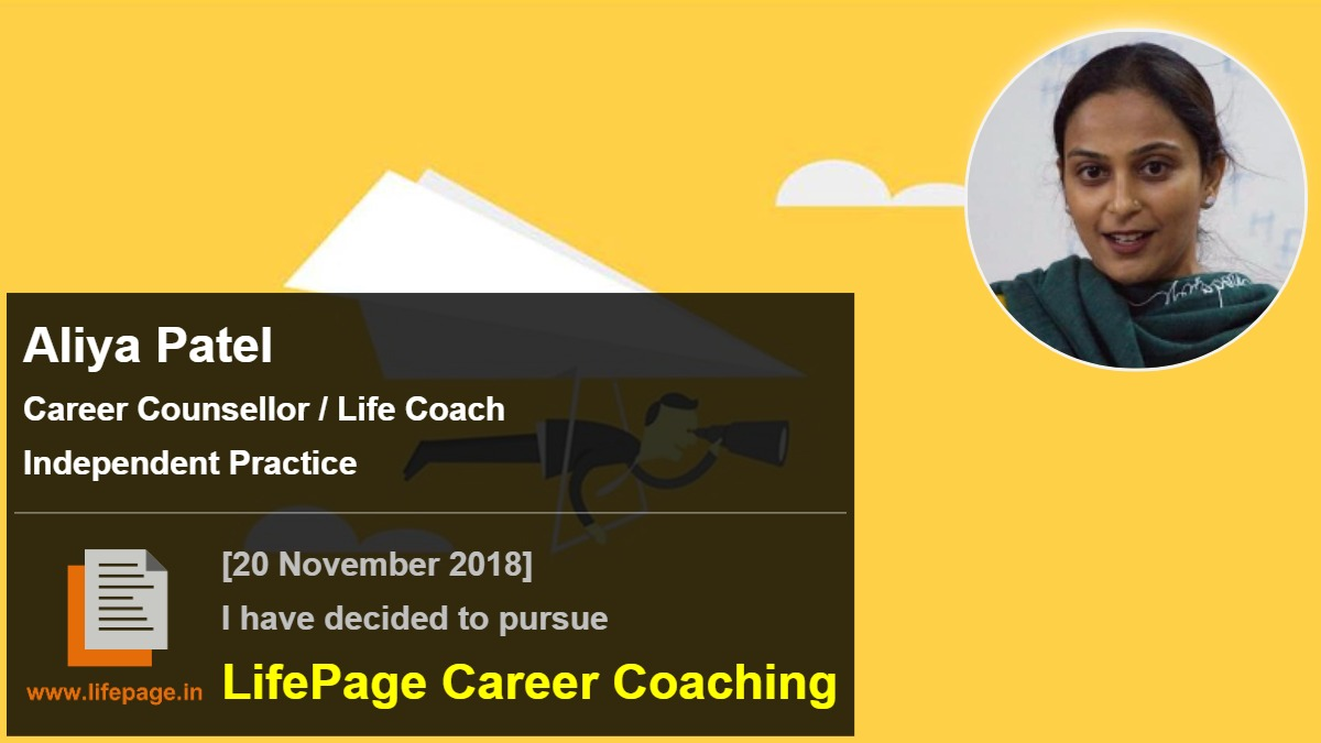 Aliya Patel | Working Professional Testimonial | LifePage Career Plan