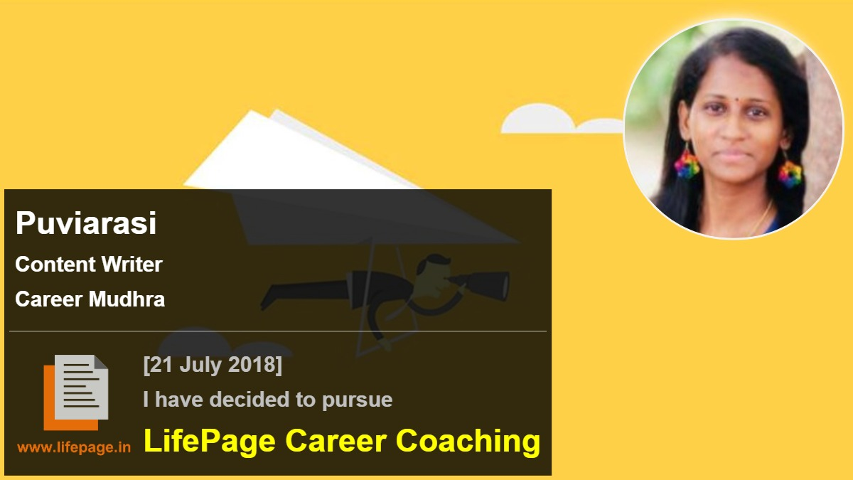 Puviarasi | Working Professional Testimonial | LifePage Career Plan